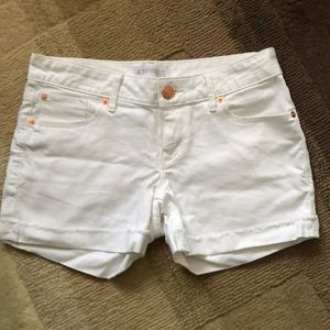Express White Jean Cuffed Shorts